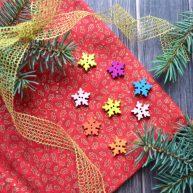 Пуговицы декоративные снежинки B173