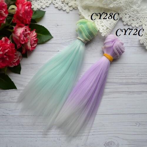 • Волосы для кукол. Искусственные волосы для текстильных кукол и для восстановления волос и рестайлинга. Длина волос 15 см, ширина трессы 1 метр. Цена указана за 1 метр.