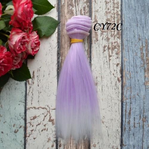 Волосы для кукол прямые CY72C