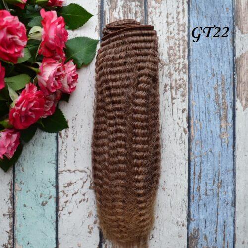 Волосы для кукол гофре GT22