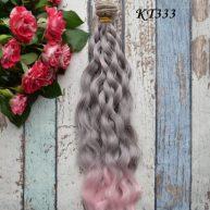 Волосы для кукол волнистые 25см KT333