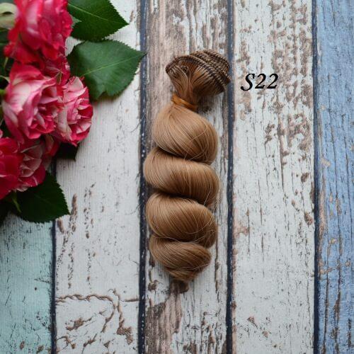 Волосы для кукол волнистые S22