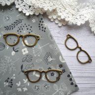 Подвеска очки пришивные бронзовые PD074