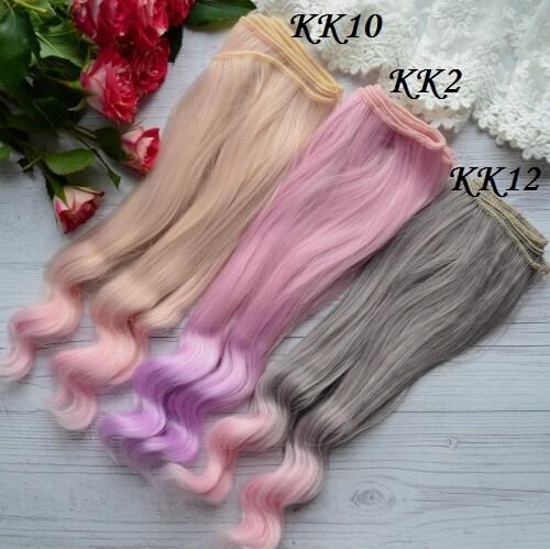 • Волосы для кукол. Длина волос 22 см, ширина трессы 1 метр. Цена указана за 1 метр.