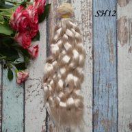 Искуcственные волосы для кукол SH12 Шелк