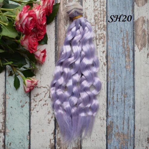 Искуственные волосы для кукол SH20 Шелк