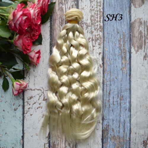 Искуственные волосы для кукол SH3 Шелк