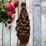 Искусcтвенные волосы для кукол SH6 Шелк
