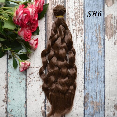 Искуственные волосы для кукол SH6 Шелк