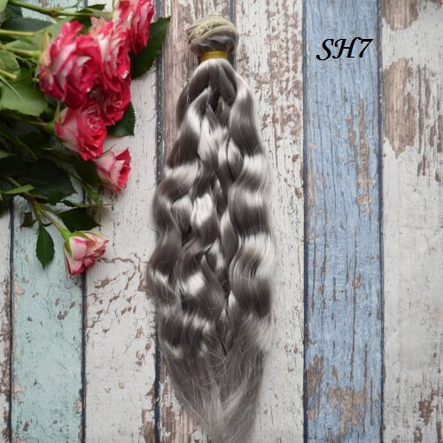 Искуственные волосы для кукол SH7 Шелк