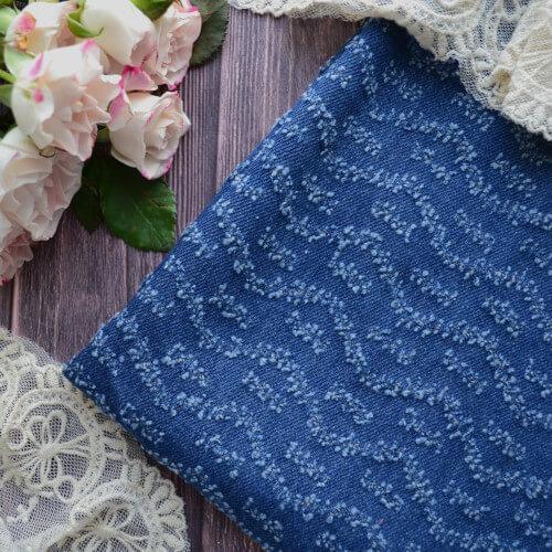 • Джинсовая ткань для рукоделия синяя. Ширина ткани 150см. Цена указана за 1 отрез 1 отрез – 20*50см 2 отреза - 40*50см 3 отреза - 60*50см … 7 отрезов 140*50см