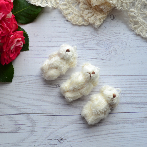 • Мишка молочный. Размер  4.5 см  Цена указана за 1 шт.