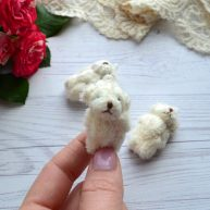 Мишка для куклы молочный 4.5 см