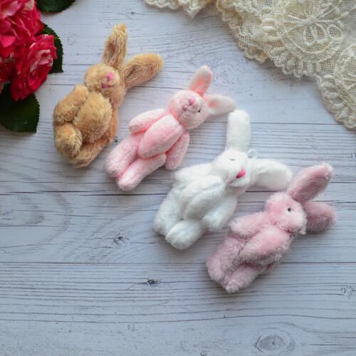 • Зайка для куклы розовый. Размер 8 см с ушками Цена указана за 1 шт.