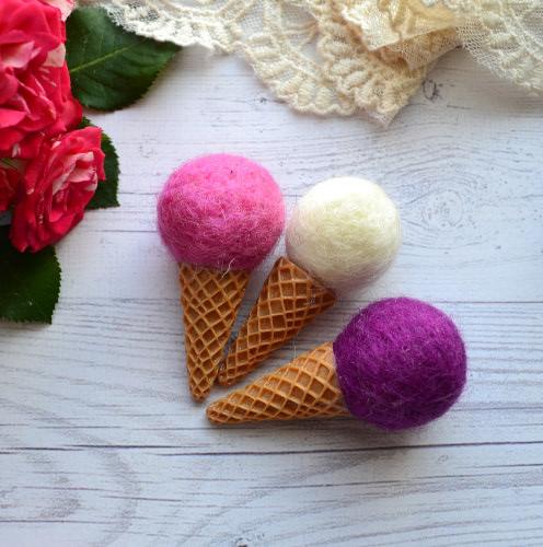 • Мороженко для куклы. Размер 6,5 см. Цена указана за 1 шт.