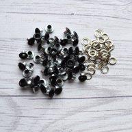 Люверсы 3 мм черные матовые
