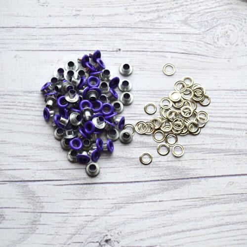 Люверсы 3 мм фиолетовые