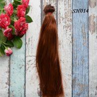 Искусственные волосы для кукол SH014 Шелк