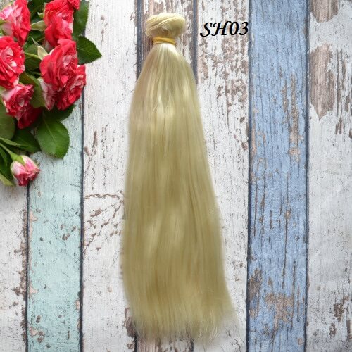 • Волосы для кукол. Шелк. Длина волос 25см. Ширина трессы 1м. Цена указана за 1 метр.