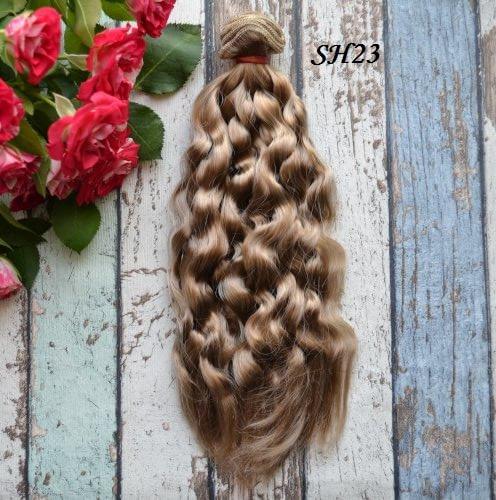 • Волосы для кукол. Шелк. Длина волос 22см. Ширина трессы 1м. Цена указана за 1 метр.