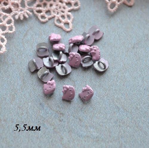 • Пуговицы Hello Kitty розовая. Размер 5.5мм Цена указана за 5 шт.