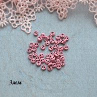 Пуговицы розовый 3мм 10шт