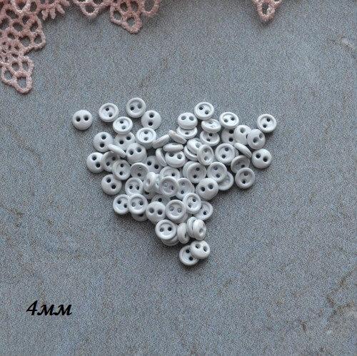 Пуговицы белые 4 мм