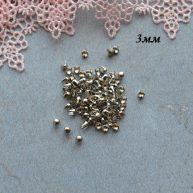 Гвоздики-заклепки декоративные серебро 3 мм — 10шт. MF151