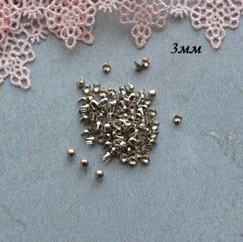 • Гвоздики декоративные серебро. Размер 3 мм Цена указана за 1 комплект ( 10 шт).