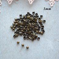 Гвоздики-заклепки декоративные золото 3 мм — 10шт. MF153