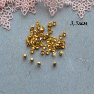 Гвоздики-заклепки декоративные золото 3,5 мм — 10шт. MF155