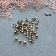 Гвоздики-заклепки декоративные серебро 4 мм — 10шт. MF157