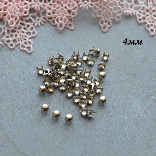 • Гвоздики декоративные серебро. Размер 4 мм Цена указана за 1 комплект ( 10 шт).