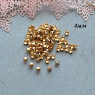 Гвоздики-заклепки декоративные золото 4 мм — 10шт. MF158