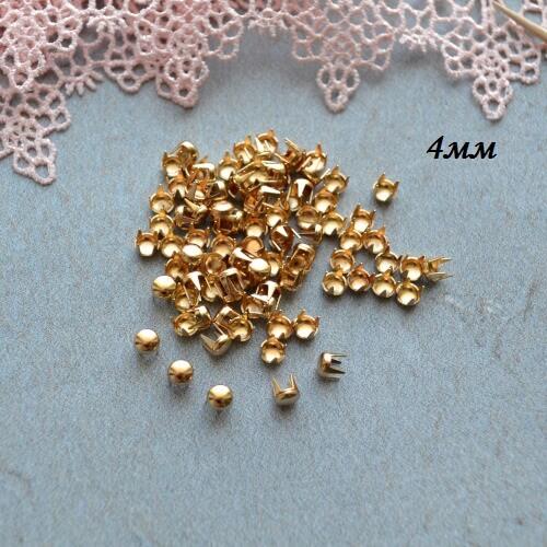 • Гвоздики декоративные золото. Размер 4 мм Цена указана за 1 комплект ( 10 шт).