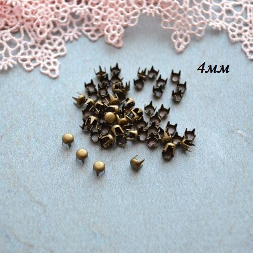 • Гвоздики декоративные бронза. Размер 4 мм Цена указана за 1 комплект ( 10 шт).