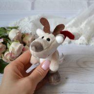 Игрушка для куклы Nici Олень Новогодний 10 см ALB66
