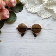 Солнцезащитные очки для куклы с золотой оправой 8*3см ALO18