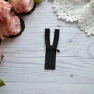 Молния для кукольной одежды 6.5 см черная AZ611