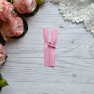 Потайная молния для кукольной одежды розовая 6.5см AZP603