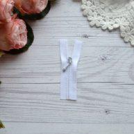 Потайная молния для кукольной одежды белая 6.5см AZP604