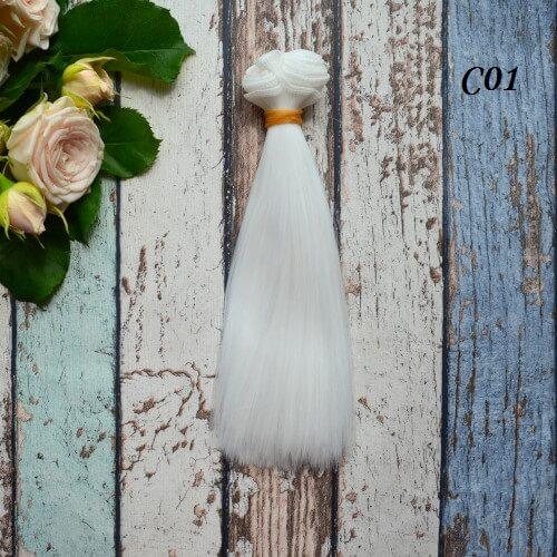 Волосы для кукол прямые C01