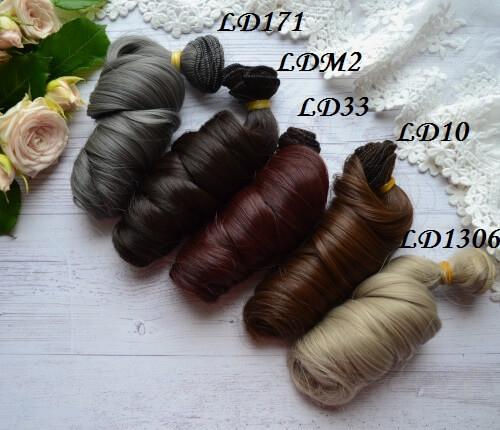 • Искусственные волосы для кукол. Для текстильных кукол Тильда, Барби и т.п. Длина: 15 см. Тресса: 1 метр. Цена указана за 1 метр.