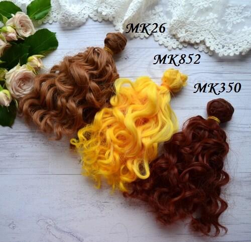 • <h5>Волосы для куклы.</h5> Длина волос 15 см, ширина треса 1 метр. Цена указана за 1 метр.
