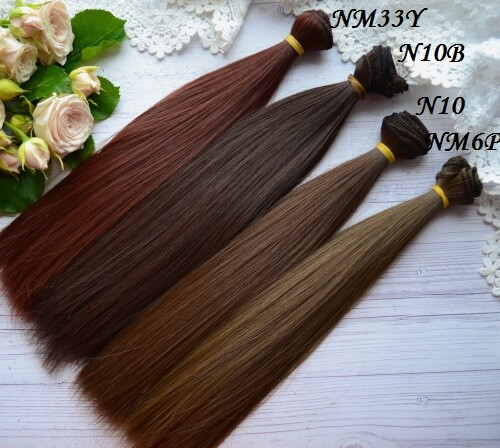 • Волосы для куклы. Длина волос 25 см, ширина трессы 1 метр. Цена указана за 1 метр.