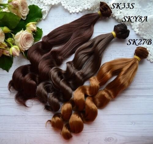• Искусственные волосы для кукол. Для создания текстильных кукол Тильда, Барби, Блайз и т.п. Длина волос: 25см. Ширина трессы 1м. Цена указана за 1м.