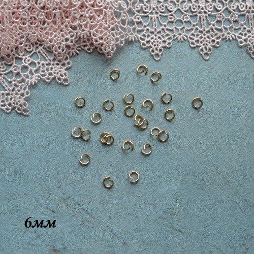 • Соединительное кольцо золото. Размер 6 мм Цена указана за 10шт.