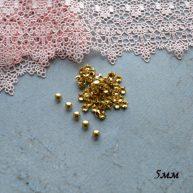 Гвоздики-заклепки декоративные золото 5 мм — 10шт. MF174