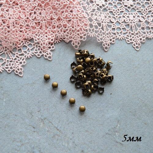 • Гвоздики декоративные бронза. Размер 5 мм Цена указана за 1 комплект ( 10 шт).