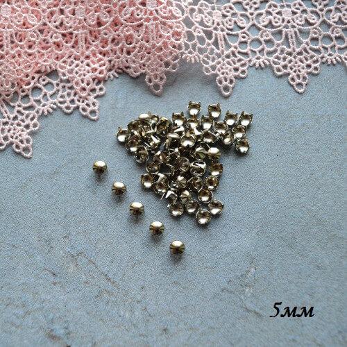 • Гвоздики декоративные серебро. Размер 5 мм Цена указана за 1 комплект ( 10 шт).